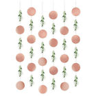 LOVE AND LEAVES Bridal Shower Hanging Strings Wall Wedding Party Decoration Rose