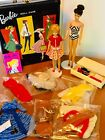 Vintage 5 Ponytail Barbie  Skipper Dolls Lot 900 Series Clothes Case  Accys