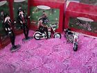Lot of 4 2000 & 2001 Harley Davidson Motorcycle BARBIE Hallmark Ornaments