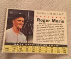 1961 Post Cereal Roger Maris Perforated #7