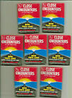 1978 Topps Close Encounters Third Kind 7 Wax Packs Unopened Lot Sci-Fi Collector