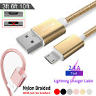 Micro USB Data Snyc FAST Charger Charging Cable For Android Samsung Xiaomi LG