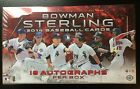 2014 Bowman Sterling Baseball Sealed Hobby Box w 18 Autographs per box Autos RC