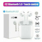 Wireless Bluetooth i12 TWS Earphones Earbuds Headphones For iphone Android sk