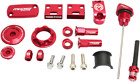 Moose Racing Red Anodized Bling Pack Honda 2003-16 CRF230 Engine Plugs Dipstick