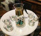 Set of 7 Pieces Colony Signed Retro Pitcher Decanter  And Glasses USA