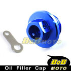 CNC Engine Blue Oil Filler Cap For HUSQVARNA TE400 2002-2007 02 03 04 05 06 07