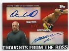 TOPPS UFC 2010 THOUGHTS FROM THE BOSS ANDERSON SILVA DANA WHITE DUAL AUTO 04 25