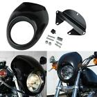 Black Front Headlight Fairing Mask Fit For Harley Dyna WideGlide Low Rider FXDL