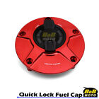 RED FCR 1/4 Quick Lock Gas Fuel Cap For Ducati SuperSport 1000DS 02 03