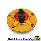 GOLD FCR 1/4 Quick Lock Gas Fuel Cap For Yamaha XJ 1300 SP 06 07 11 12 13 14