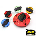 RED FCR 1/4 Quick Lock Gas Fuel Cap For Yamaha XJ 1300 SP 98 01 02 03 04 05