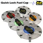 TITANIUM FCR 1/4 Quick Lock Gas Fuel Cap For Honda CBR 600 F3 F2 91-08 05 06 07