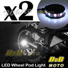 2x White 360 Degree Cycle Rim Wheel SMD LED Pod Light For Buell Motorcycles
