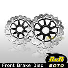 For Honda GL F6C VALKYRIE 1500 1997-03 2x Stainless Steel Front Brake Disc Rotor