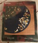 NEW VTG Plaid Bucilla Joy to the World 43 Felt Tree Skirt Kit Nativity Scene