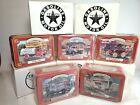 5 Ertl Texaco Collectors Club Tins w/ Ford & Chevy Delivery Vehicles + Mack Tank