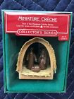 HALLMARK 1985 MINIATURE CRECHE FIRST IN SERIES ORNAMENT