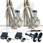 2Pcs 25Electric Exhaust Downpipe E Cut Out Valve W Two CONTROLLER REMOTE KIT