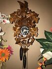 BEAUTIFUL GERMAN BLACK FOREST CARVED CUCKOO CLOCK