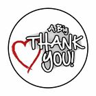 48 BIG THANK YOU HEART ENVELOPE SEALS LABELS STICKERS 12 ROUND