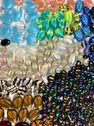 Beads Oval Czech Glass Beads Mixed Colors  Sizes 1 2 lb
