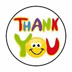 48 THANK YOU HAPPY FACE ENVELOPE SEALS LABELS STICKERS 12 ROUND