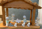 Precious Moments Nativity Pewter Set Mini Creche  9 Pc set Jesus Boxes