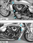 Suzuki M1800 (VZ) R Intruder Engine Protection Bar - Chrome BY HEPCO AND BECKER
