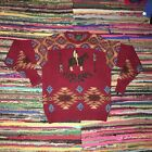 Vintage Ralph Lauren Polo Country Hand Knit Native American Indian Sweater Sz L