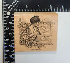 Stampin Up Woman Flowers Leaves Script Friendships Journey Rubber Stamp