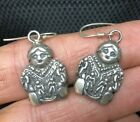 Vintage Story Teller Earrings Sterling Silver UNIQUE Native American Jewelry