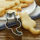 Cat Shape Cookie Cutter Stainless Cake Mold Fondant Pastry Biscuits DIY Tool