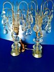 Pair of Vintage Wire Table Lamps Chandiliers MId Centurey or 70s 17
