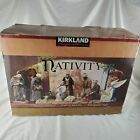 KIRKLAND 20 PIECE NATIVITY SET SIGNATURE FABRIC MACHE in Box 404603