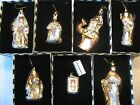 Mackenzie Childs Set of 7 Nativity Glass Christmas Ornaments Mary Joseph Kings