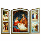 Holy Family Nativity of Christ Triptych Christmas Icon Saints 6 3 4x 10