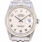 AUTHENTIC ROLEX 16234 Holicon Datejust Watches K18 white gold/Stainless St...