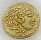 ANCIENT GREEK AU GOLD DRACHM COIN ALEXANDER THE GREAT 512GRAMS 195MM