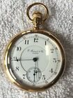 E HOWARD N SIZE 17jewel SPLIT PLATE POCKETWATCH IN ORIGINAL18K ROSE GOLD CASE