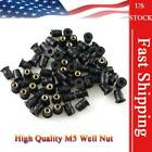 Motor Rubber Well Nuts 5MM Metric For Honda CBR600RR 900RR CBF100 VFR750 CBR250R