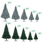 5 6 7 8Ft Christmas Tree Xmas Pine Green and Snow Flakes with Metal Stand