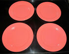 Set of 4 Hazel Atlas Ovide Fired Pink Luncheon or Salad 9