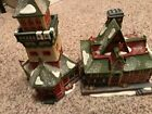 Dept 56 Village Santas Look Out and North Pole Express Depot