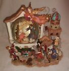 Grandeur Noel Musical Water Snow globe Silent Night 2001 Christmas Nativity Snow