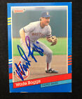 WADE BOGGS 1991 FLEER AUTOGRAPHED SIGNED AUTO BASEBALL CARD RED SOX 178 HOF
