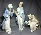 Lladro Nao Nativity Set 3 Wise Men Three Kings Magi 412 413 414