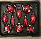 Radko Celebrations, set of 10  Red With Snowman Ornaments