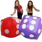 Jumbo Inflatable Dice Set Giant Blow Up Cube Large Toy Pool Games Pump BL3
