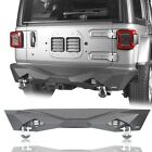 Textured Rear Bumper w/ Led Lights & Hitch Receiver for Jeep Wrangler JL 18-2020